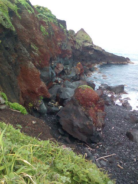 赤禿のアア溶岩