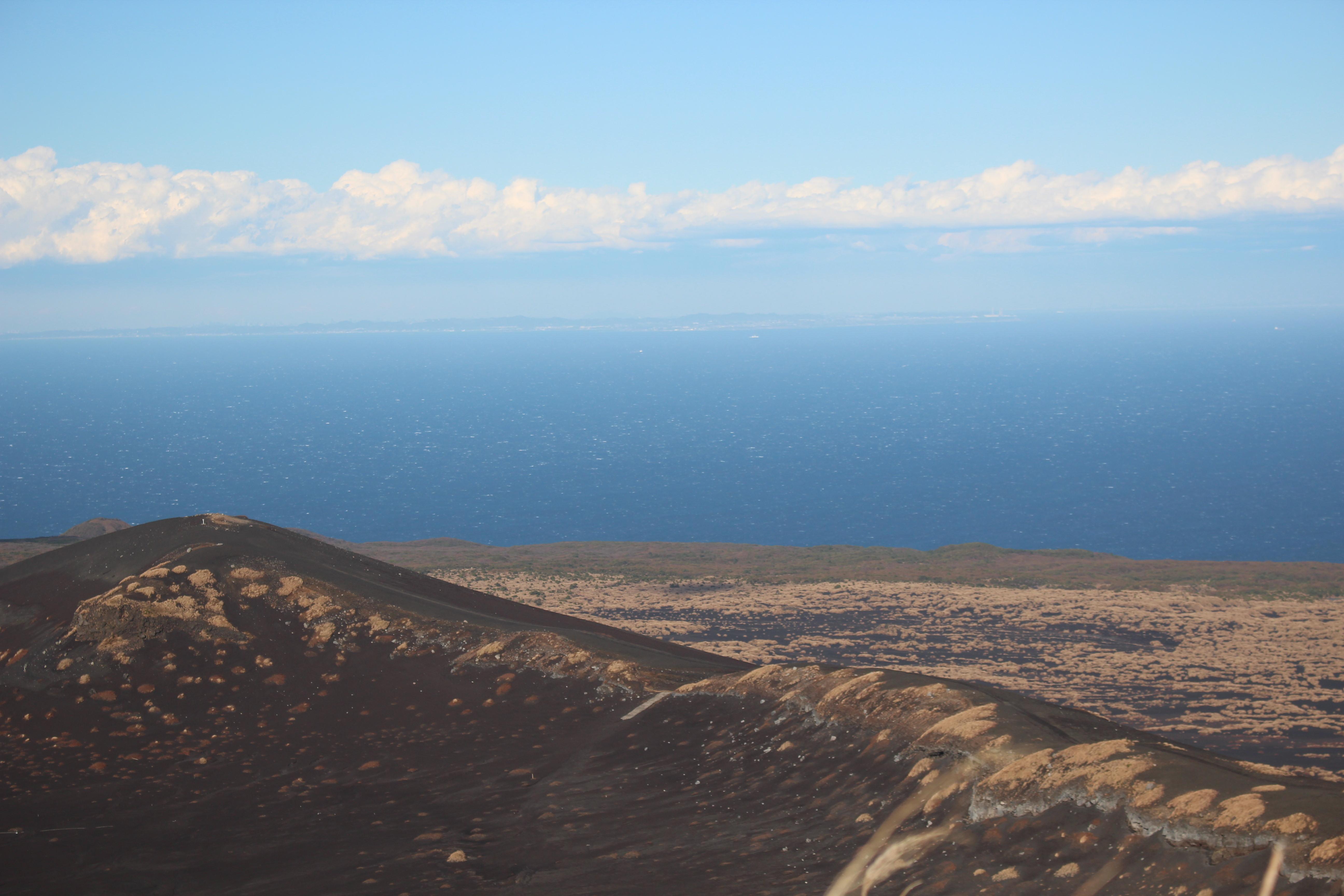 白石山展望台から房総半島