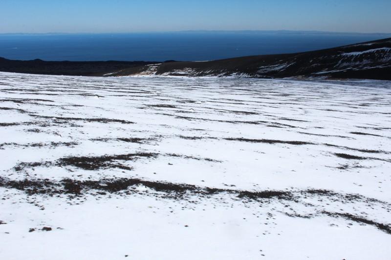 雪の裏砂漠